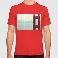 Golden Gate Bridge San F… Mens Fitted Tee Red SMALL