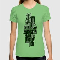 Hell Yeah! Womens Fitted Tee Grass SMALL