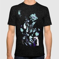 Aquatic Creatures Mens Fitted Tee Tri-Black SMALL