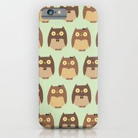 owls iPhone & iPod Cases featuring Owls by sheena hisiro