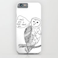 iPhone & iPod Case featuring Owl always have no feelings for you. by Brittany Metz