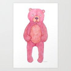 Raspberry Bear Art Print