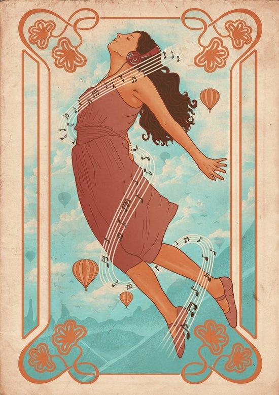 Feel The Music Art Print