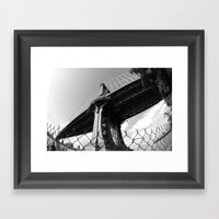Under The Manhattan Brid… Framed Art Print