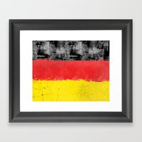 Germany Flag Framed Art Print