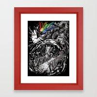 Dark Side Of The Rainbow Framed Art Print
