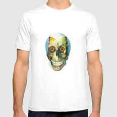 SKULL#02 Mens Fitted Tee White SMALL