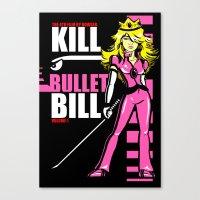 Kill Bullet Bill (Black/Magenta Variant) Canvas Print
