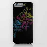 iPhone & iPod Case featuring birds doodle in cmyk by ravynka