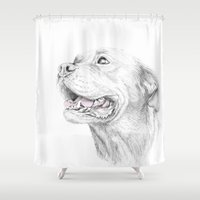Murphy :: Loyalty [with Quote] Shower Curtain