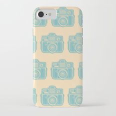 I Still Shoot Film Holga Logo - Reversed Turquoise/Tan iPhone 7 Slim Case