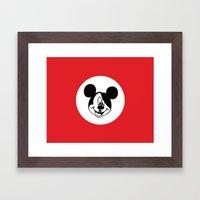 Genosse Mouse Framed Art Print