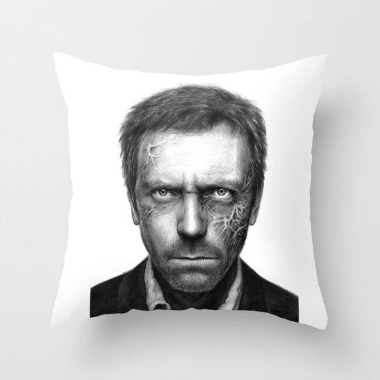 Hugh Laurie Throw Pillow