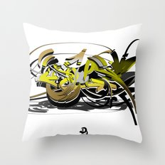 3d graffiti - soul Throw Pillow