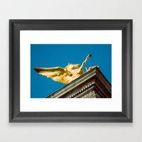 Gold Pegasus Framed Art Print