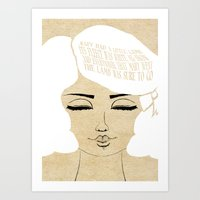 The Lamb Was Sure - Lessons From Mother Goose Series Art Print