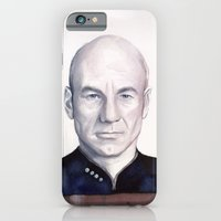 iPhone & iPod Case featuring Captain Picard by Olechka