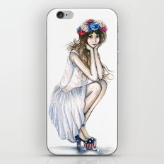 Fourth of July // Fashion Illustration iPhone & iPod Skin