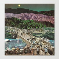 moonscape (no rest for the weary) Canvas Print