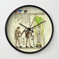 Wall Clock featuring Hero-glyphics: Slimed by Josh Ln