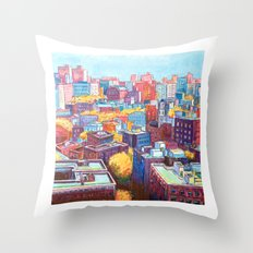 NYC Rooftops Remix Throw Pillow