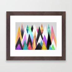 Colorful Peaks Framed Art Print