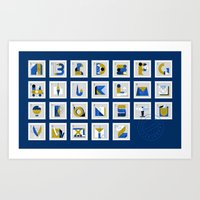 Post Alphabet Art Print