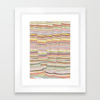 Cone Pattern Framed Art Print