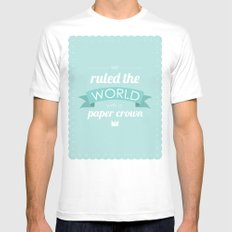 Paper Crown SMALL Mens Fitted Tee White
