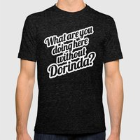 What Are You Doing Here … Mens Fitted Tee Tri-Black SMALL