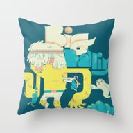 Throw Pillow featuring Big Ballin' by Emory Allen