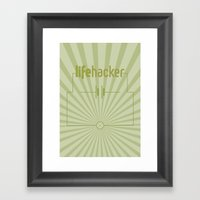 Essence Of Lifehacker Framed Art Print