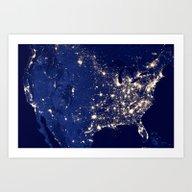 City Lights Of The Unite… Art Print