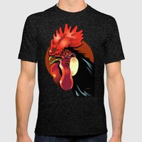 Andalusian Rooster 1 Mens Fitted Tee Tri-Black SMALL