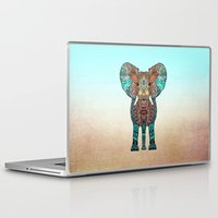 elephant Laptop & iPad Skins featuring ElePHANT by Monika Strigel