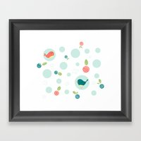 Birds with Polka Dots Framed Art Print