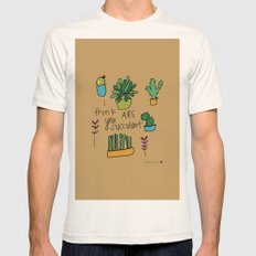 Plant Love. Mens Fitted Tee Natural SMALL