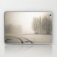 Tyre tracks in snow Laptop & iPad Skin