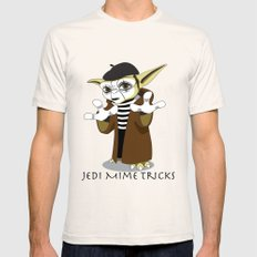 Jedi Mime Tricks Mens Fitted Tee Natural SMALL