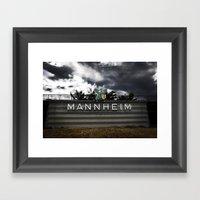 Mannheim Framed Art Print