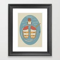 Der Strumpf, Die Sandale… Framed Art Print