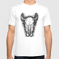 BULL Mens Fitted Tee White SMALL