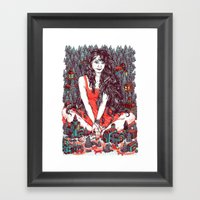 Three Eyed Girl Framed Art Print