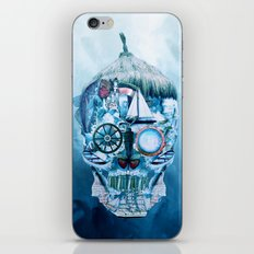 Skull Ocean Blue iPhone & iPod Skin