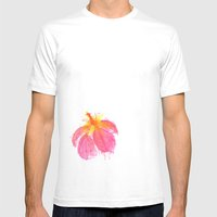 Hibiscus Mens Fitted Tee White SMALL
