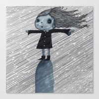 Even When It Is Raining I go up on my Hill Canvas Print