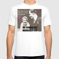 Let's Marry The Internet… Mens Fitted Tee White SMALL
