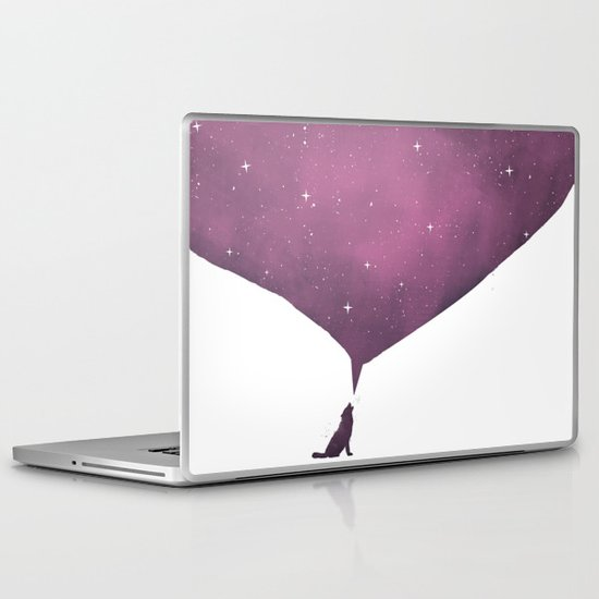 wolf song Laptop & iPad Skin