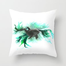 Dolphin Baby Throw Pillow