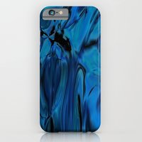 Shiny Blue Melted Glass iPhone 6 Slim Case